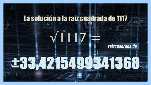 Número final de la resolución raíz de 1117