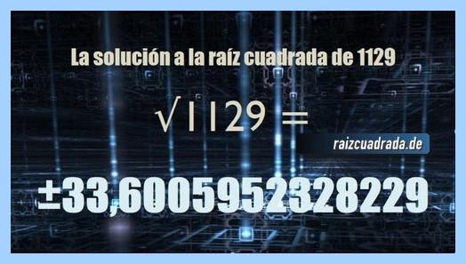 Solución conseguida en la raíz de 1129