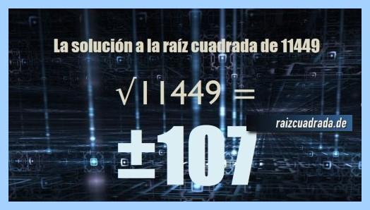 Número finalmente hallado en la raíz del número 11449