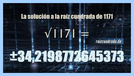 Solución obtenida en la resolución raíz de 1171