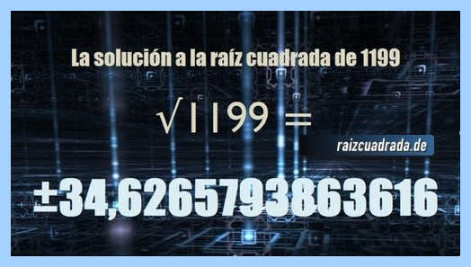 Solución conseguida en la resolución raíz del número 1199