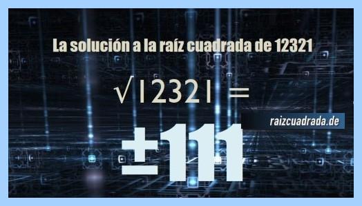 Número finalmente hallado en la raíz de 12321