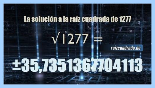 Solución obtenida en la resolución raíz de 1277