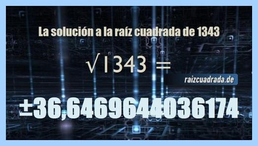 Solución que se obtiene en la resolución raíz de 1343