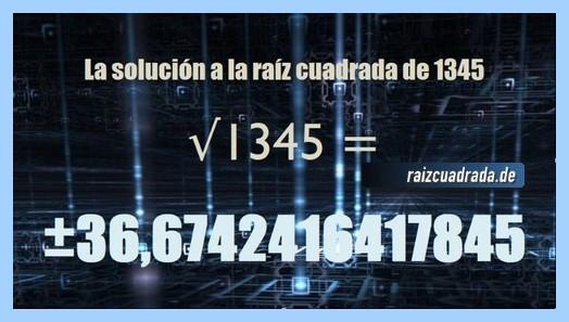 Número conseguido en la raíz de 1345