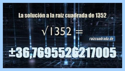 Solución final de la resolución raíz cuadrada de 1352