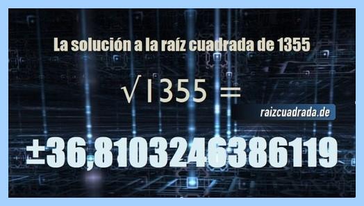 Solución finalmente hallada en la resolución raíz del número 1355