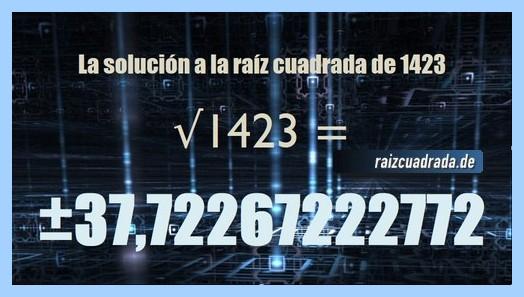 Solución que se obtiene en la resolución raíz de 1423
