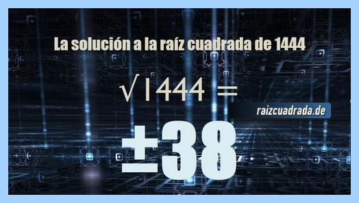 Solución que se obtiene en la resolución raíz de 1444
