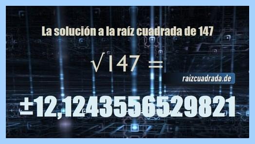 Solución finalmente hallada en la resolución raíz del número 147