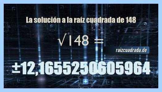 Solución que se obtiene en la resolución raíz de 148