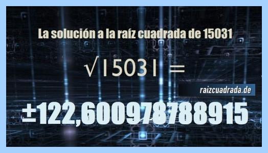 Solución final de la raíz de 15031