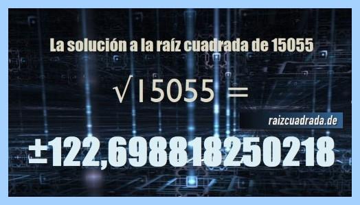 Solución final de la operación raíz del número 15055