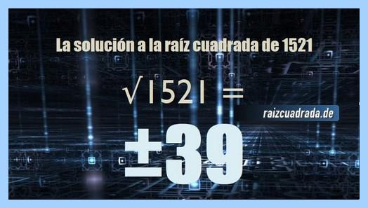 Resultado final de la raíz del número 1521