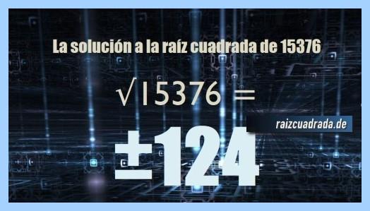 Solución obtenida en la resolución raíz cuadrada de 15376