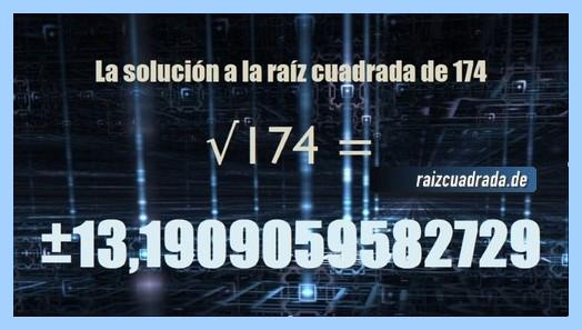 Solución conseguida en la raíz de 174