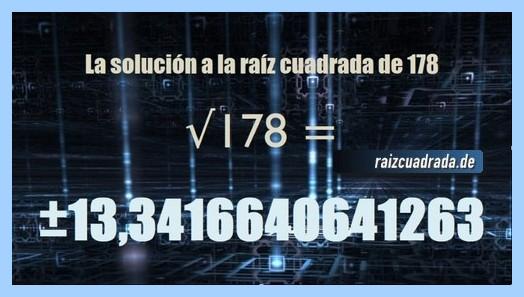 Solución final de la raíz cuadrada de 178
