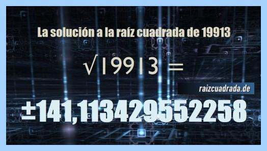 Solución obtenida en la operación matemática raíz de 19913