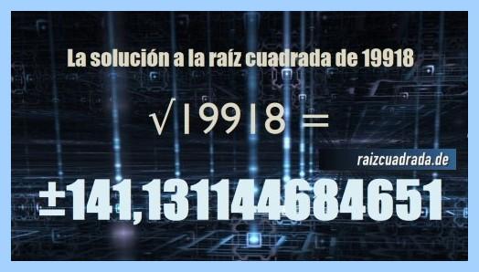 Solución finalmente hallada en la resolución raíz del número 19918