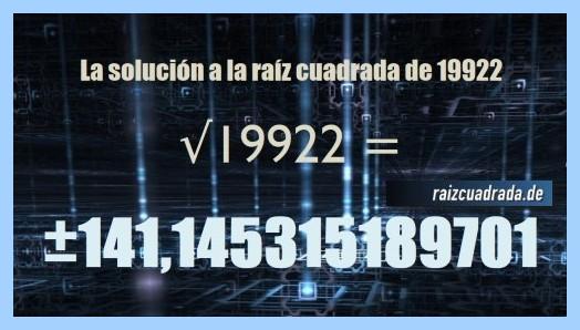 Solución final de la operación raíz del número 19922