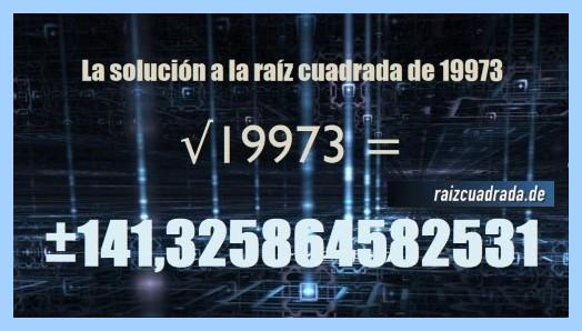 Número que se obtiene en la resolución raíz de 19973