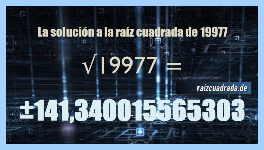 Solución obtenida en la raíz del número 19977