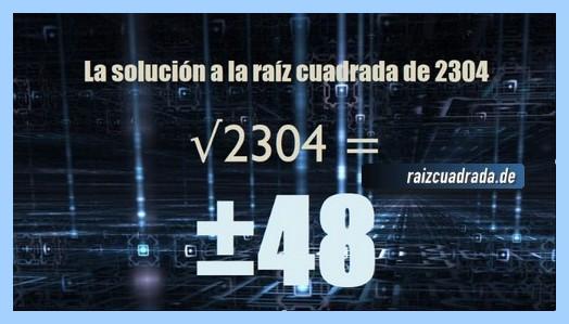 Solución obtenida en la resolución raíz cuadrada de 2304