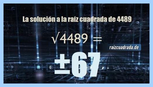 Resultado conseguido en la resolución raíz del número 4489