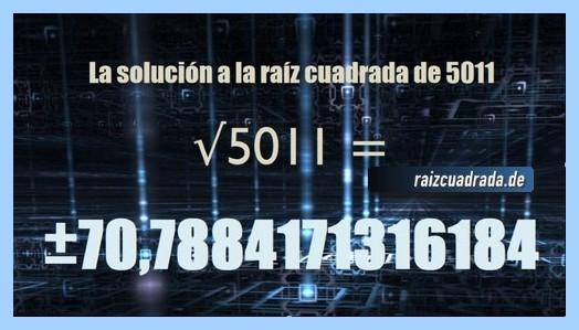 Solución final de la operación matemática raíz del número 5011