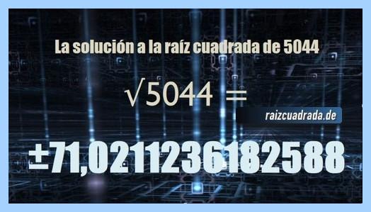 Solución que se obtiene en la resolución raíz del número 5044