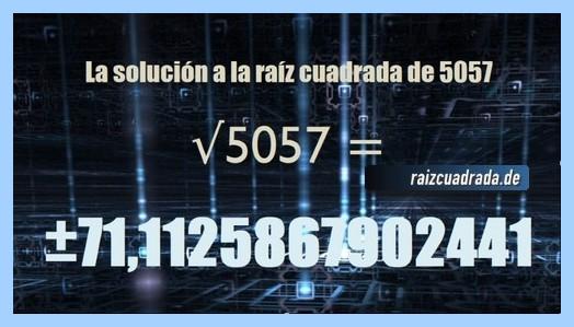 Solución final de la resolución raíz cuadrada del número 5057