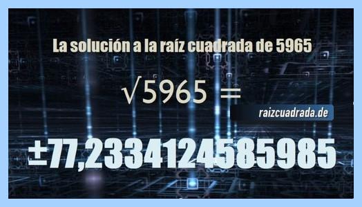 Solución conseguida en la resolución raíz del número 5965