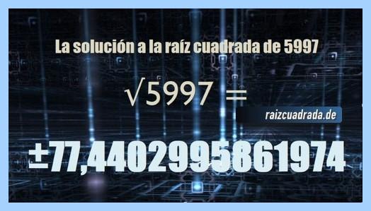 Solución que se obtiene en la resolución raíz de 5997