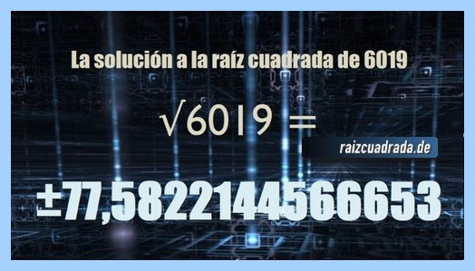 Solución obtenida en la resolución raíz de 6019