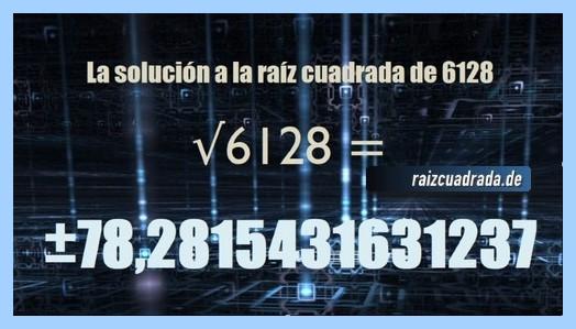Solución que se obtiene en la resolución raíz de 6128