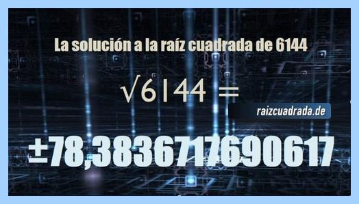 Solución final de la resolución raíz de 6144