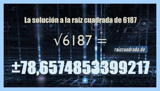 Solución final de la raíz de 6187