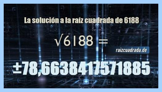 Solución obtenida en la raíz de 6188