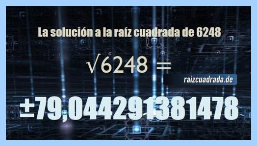 Solución que se obtiene en la operación raíz del número 6248