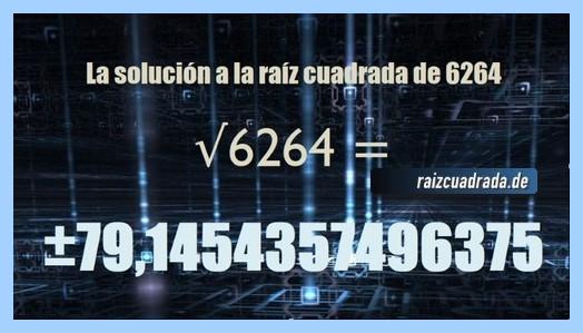 Número obtenido en la raíz de 6264