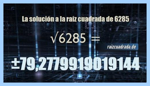 Solución final de la resolución raíz de 6285